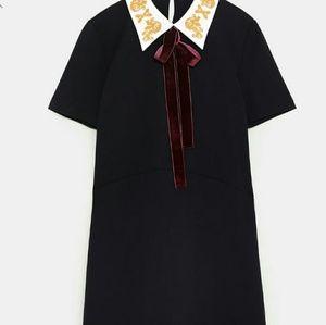 ZARA Velvet NEW Bow Dress